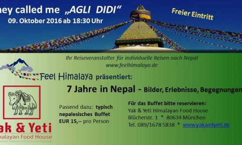 "They called me ""AGLI DIDI"" – 7 Jahre in Nepal"