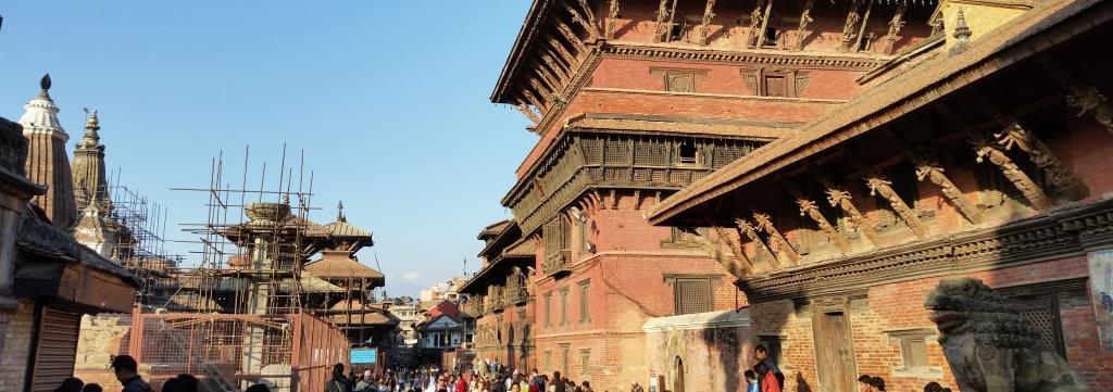 hier sieht man den Palast am Patan Durbar Square