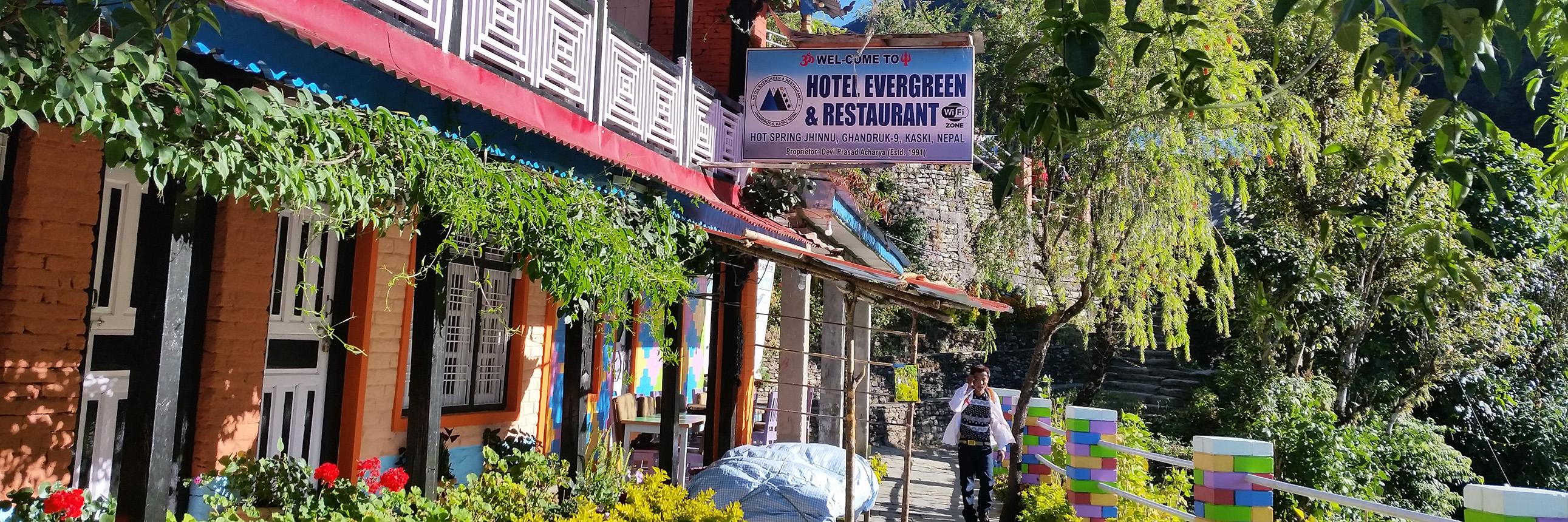 Bild einer typischen Trekking Lodge in den Annapurnas