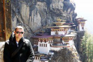Reisender vor dem Tigernest, Bhutan