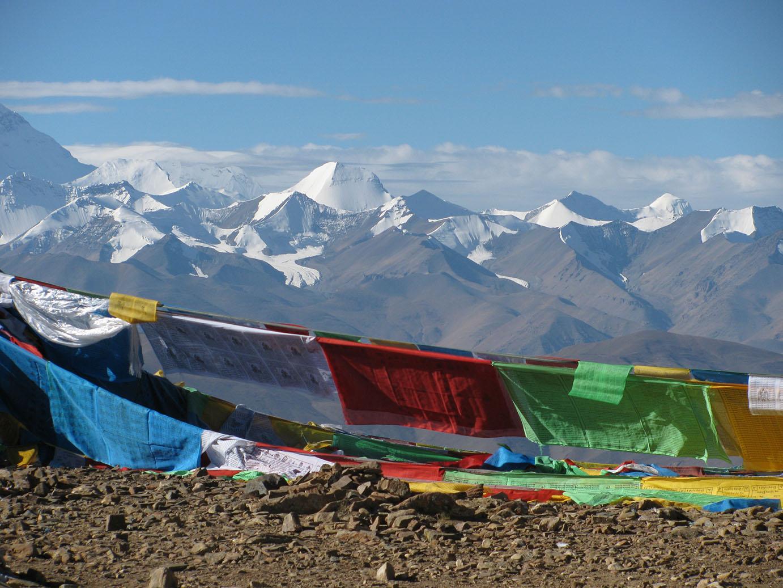 Blick von Tibet auf den Himalaya