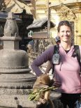 Julia Opitz in Swayambunath, dem Affentempel